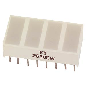 Flat LED, 10 x 20 mm, green KINGBRIGHT KB-2820SGW