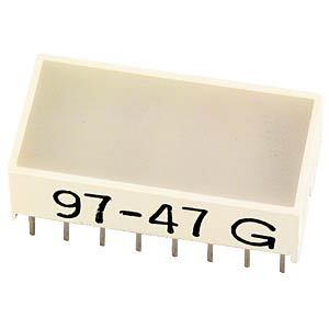 Flat LED, 10 x 20 mm, yellow KINGBRIGHT KB-2785YW