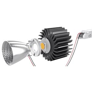 LED, COB, 40 W, LES 19 mm, 3100 lm, 3980 K, neutralweiß SHARP GW7MMC40GSC