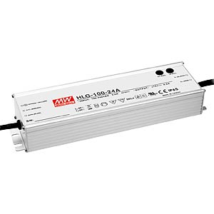 Switching power supply f. LED, 96 W/24 V/4.0 A, IP67 MEANWELL HLG-100H-24B