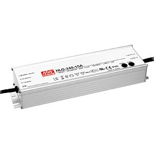 Switching power supply f. LED, 240 W/24 V/10 A, IP67 MEANWELL HLG-240H-24B