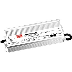 Switching power supply f. LED, 264W/12V/22 A, IP65 MEANWELL HLG-320H-12A