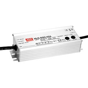 Switching power supply f. LED, 60W/24V/2.5 A, IP65 MEANWELL HLG-60H-24A