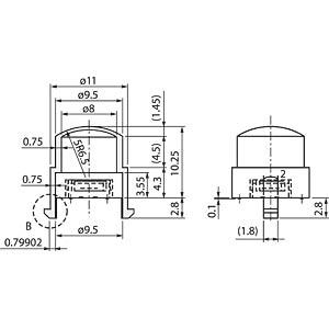Fresnel-Linse f. PIR-Sens.,Ø11x10,25mm, grau MURATA IML-0650G