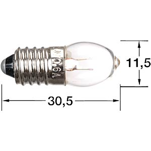 Krypton torch bulb, E10 socket FREI