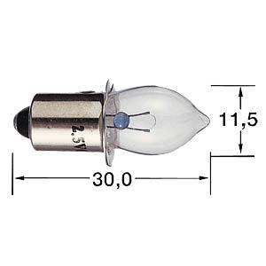 Taschenlampenbirne, P13,5S, 4,8 V, weiß BARTHELME 00654850