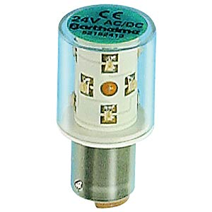 LED all-round bulb, 360°, BA15d, 24 V, green BARTHELME 52152413