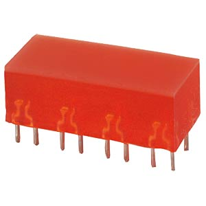 Flat LED, 10x22 mm, red KINGBRIGHT L-895/8IDT