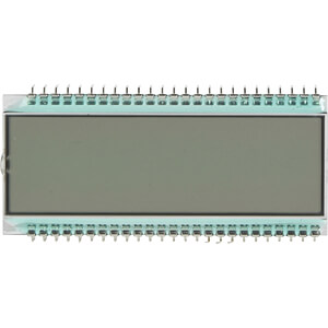 LCD-7-Segment, 1x6, H:12,7mm DISPLAY ELEKTRONIK DE 122-RS-20/6,35