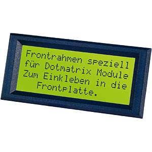 LCD frame, black, 121 x 41.5 mm ELECTRONIC ASSEMBLY EA 017-25KE