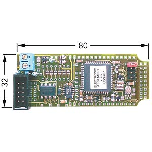 Interface board for dot matrix displays up to 4 x 40 ELECTRONIC ASSEMBLY EA 9707-V24SK
