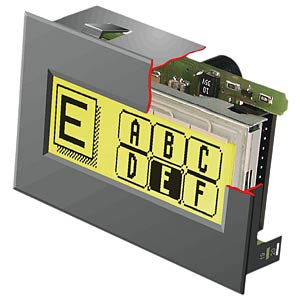 Graphic display, LED lighting ELECTRONIC ASSEMBLY EA KIT160-6LEDTK