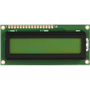 LCD-Modul, 1x16, H:6,0mm, ge/gn, m.Bel. DISPLAY ELEKTRONIK DEM 16101 SYH-LY