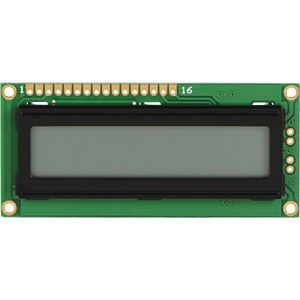 LCD-Modul, 1x16, H:6,0mm, sw/gr DISPLAY ELEKTRONIK DEM 16101 TGH