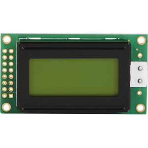 LCD-Modul, 2x8, H:5,0mm, ge/gn, m.Bel. DISPLAY ELEKTRONIK DEM 08202 SYH-LY