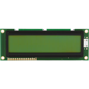 LCD-Modul, 2x16, H:9,6mm, ge/gn, m.Bel. DISPLAY ELEKTRONIK DEM 16215 SYH-LY-CYR22