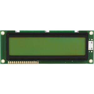 LCD-Module, 2x16, h:9.6mm, ye/gn, w.backl. DISPLAY ELEKTRONIK DEM 16215 SYH-LY-CYR22