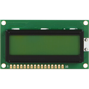 LCD-Modul, 2x16, H:4,7mm, ge/gn, m.Bel. DISPLAY ELEKTRONIK DEM 16226 SYH-LY