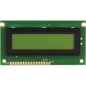 LCD-Modul, 2x16, H:5,6mm, ge/gn DISPLAY ELEKTRONIK DEM 16217 SYH