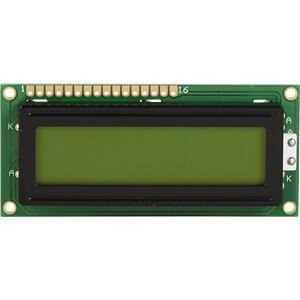 LCD-Modul, 2x16, H:5,6mm, ge/gn, m.Bel. DISPLAY ELEKTRONIK DEM 16216 SYH-LY