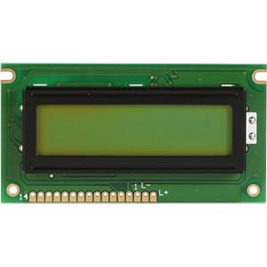 LCD-Modul, 2x16, H:5,6mm, ge/gn, m.Bel. DISPLAY ELEKTRONIK DEM 16217 SYH-LY