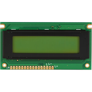 LCD-Modul, 2x16, H:5,6mm, ge/gn, m.Bel. DISPLAY ELEKTRONIK DEM 16217 SYH-PY
