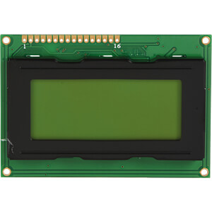 LCD-Modul, 4x16, H:4,8mm, ge/gn, m.Bel. DISPLAY ELEKTRONIK DEM 16481 SYH-LY-CYR22