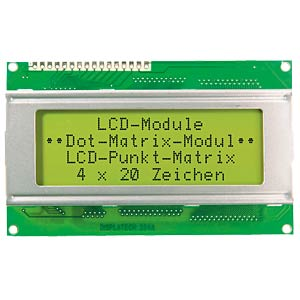 Backlit dot matrix LCD module ELECTRONIC ASSEMBLY EA W204-NLED