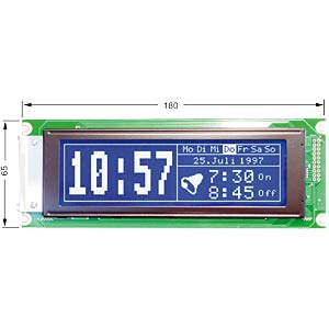 LCD-Grafikdisplay, 240x64 Pixel, bl/ws, m.Bel. ELECTRONIC ASSEMBLY EA W240-6K2HLW