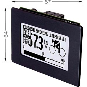 LCD-Grafikmodul mit Touch-Panel, 128x64 Pixel ELECTRONIC ASSEMBLY EA KIT129J-6LWTK