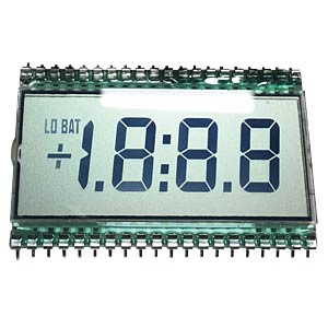 LCD-7-Segment, 1x3 +SZ, H:12,7mm, reflektiv DISPLAY ELEKTRONIK DE113RS-20/6.35