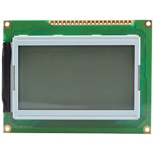LCD-Grafikdisplay, 128x64 Pixel, ge/gn, m.Bel. EMERGING DISPLAY TECHNOLOGIES EW13B36FLW