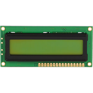 LCD-Modul, 2x16, H:4,4mm, ge/gn DISPLAY ELEKTRONIK DEM 16213 SYH