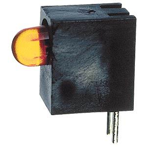 LED plastic block with 5 mm LED, yellow KINGBRIGHT L-1503CB/1YD
