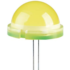 LED, 20 mm, diffused, yellow KINGBRIGHT DLC2/6YD