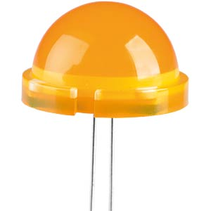 LED, 20 mm, diffused, orange KINGBRIGHT DLC2/6ED