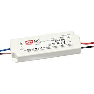 Switching power Supply for LED, 16 W/9 - 48 V/350 mA MEANWELL LPC-20-350