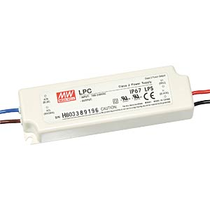 Switching power Supply for LED, 21 W/9 - 30 V/700 mA MEANWELL LPC-20-700