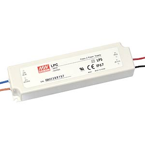 Switching power supply for LED, 58 W/9 - 42 V/1400 mA MEANWELL LPC-60-1400