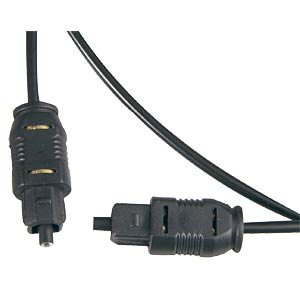 2X TOSLINK plugs, Ø= 2.2 mm, 5.0 metres FREI