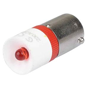 Reflektor-LED, Sockel BA9s, 230V AC, rot SIGNAL CONSTRUCT MEDB2508BR