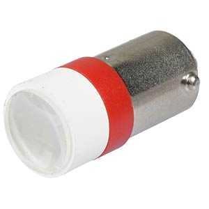 LED-Spot-Light, BA9s, rot, 12 V, 6500 mcd, Ø10 mm, 50° SIGNAL CONSTRUCT MELB2202