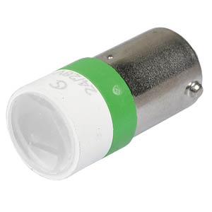 LED-Spot-Light, BA9s, grün, 24 V, 20000 mcd, Ø10 mm, 50° SIGNAL CONSTRUCT MELB2274