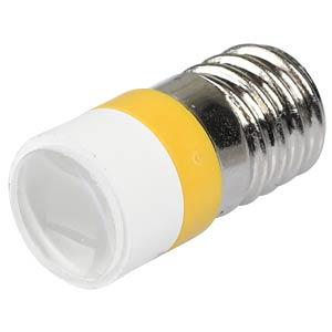 LED-Spot-Light, E10, gelb, 12 V, 3500 mcd, Ø10 mm, 50° SIGNAL CONSTRUCT MELE2212