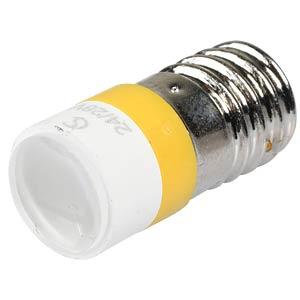 Reflektor punktowy LED, gwint E10, 24V AC/DC, żó&ls SIGNAL CONSTRUCT MELE2214