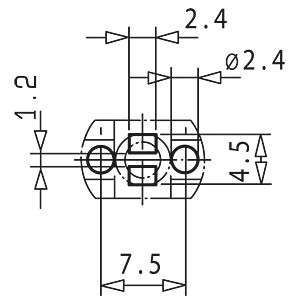 Light guide 45 mm, ø 3 mm, for 3 mm LEDs MENTOR 12.161.003