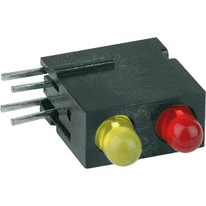 2-way LED module, red/yellow, Ø 3 mm MENTOR 18.012.731