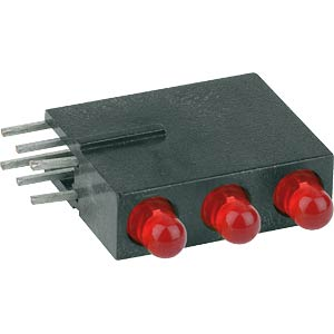 Traffic light LED module, Ø 3mm, red/red/red MENTOR 1881.2220