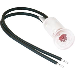 220-V signal light, red, Ø 5 mm, connection cable MENTOR 26.848.121