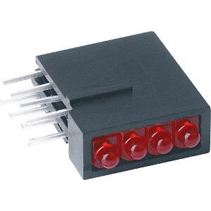 4-way module, red, Ø 2mm MENTOR RTD2400R
